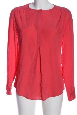 Witty Knitters Camicetta a maniche lunghe rosso caratteri ricamati stile casual