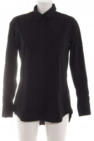 Witty Knitters Langarm-Bluse schwarz Casual-Look