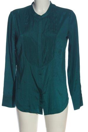 Witty Knitters Camisa de manga larga turquesa look casual