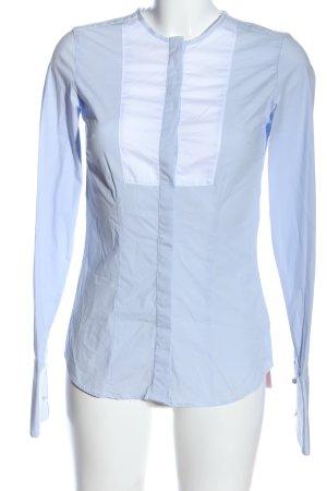 Witty Knitters Camisa de manga larga azul estilo «business»