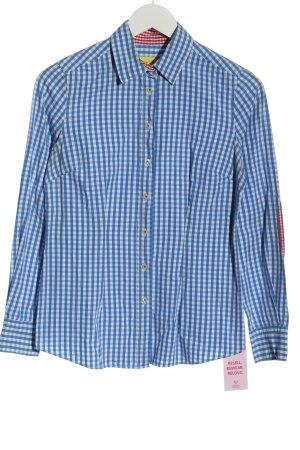 Witty Knitters Camisa de manga larga azul-blanco look casual