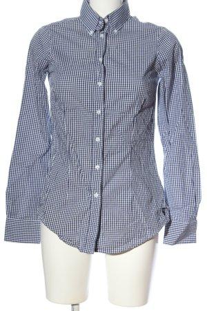 Witty Knitters Camisa de manga larga azul-blanco estampado a cuadros