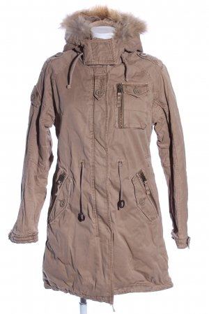 Witty Knitters Parka bruin casual uitstraling