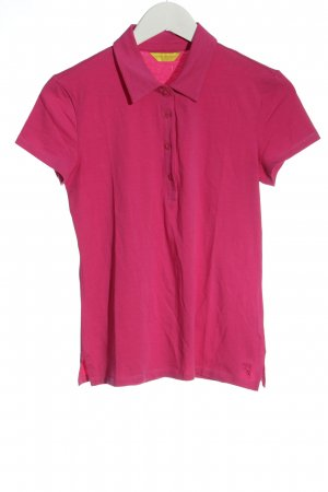 Witty Knitters Polo rose lettrage brodé style décontracté