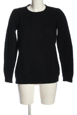 Witty Knitters Rundhalspullover schwarz Casual-Look