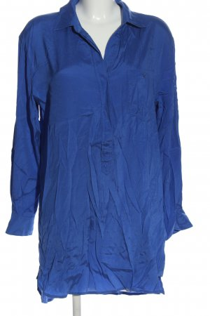 Witty Knitters Seidenbluse blau Casual-Look