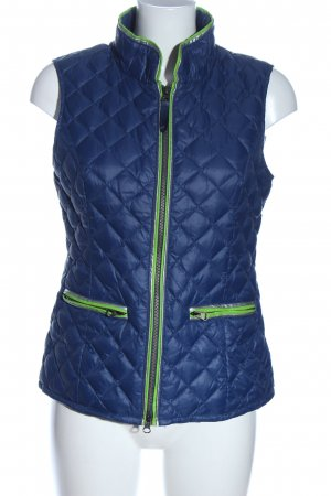Witty Knitters Steppweste blau Steppmuster Casual-Look