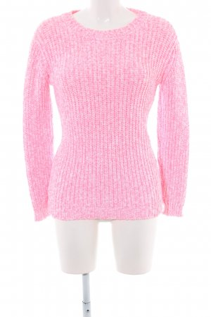 Witty Knitters Strickpullover pink-weiß meliert Business-Look