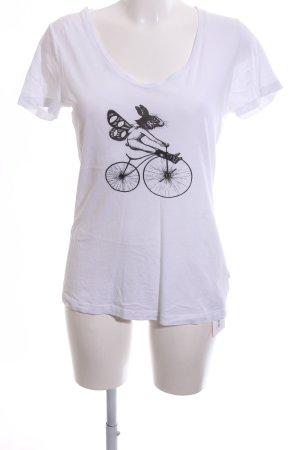 Witty Knitters T-Shirt weiß-schwarz Motivdruck Casual-Look