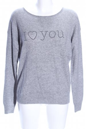Witty Knitters Wollpullover hellgrau meliert Casual-Look