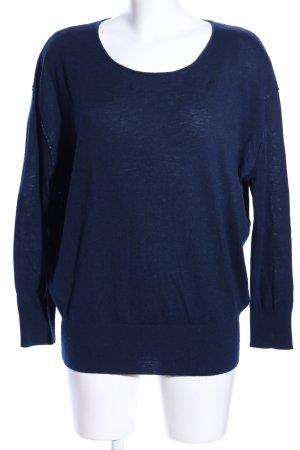Witty Knitters Pull en laine bleu style décontracté