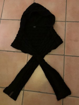 Guess Bufanda con capucha negro