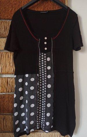 Sure Vestido de tela de sudadera blanco-negro