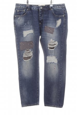 Wiya 7/8 Jeans blau Street-Fashion-Look