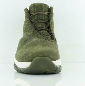 Air Jordan Sneakers met veters olijfgroen Leer
