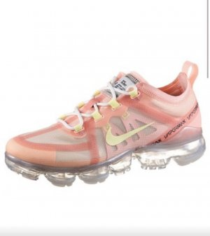 Nike Lace-Up Sneaker pink-neon yellow
