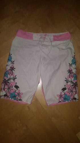 New Yorker Zwemshorts wit-roze Polyester