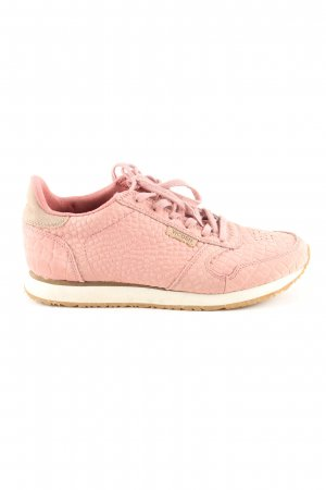 WODEN Schnürsneaker pink Animalmuster Casual-Look