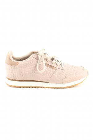 WODEN Schnürsneaker pink-creme Animalmuster Casual-Look