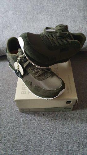 Sneakers met veters khaki