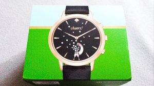 WOHOOO!!!! NEU mit Etikett!!! Wunderschöne Hybrid Smartwatch von KATE SPADE mit schwarzem Lederarmband!