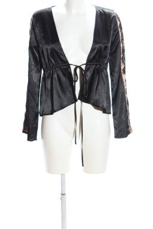 Wolf & Whistle Wraparound Jacket black-natural white elegant