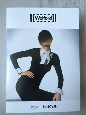 Wolford Blusen Shirt Schwarz/ Weiß Gr. L / 38 40