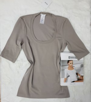 Wolford Long Sleeve Blouse taupe-grey brown