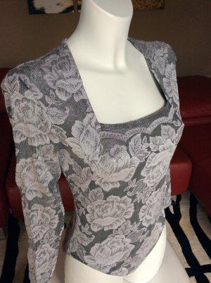 Wolford Corsé color plata-blanco tejido mezclado