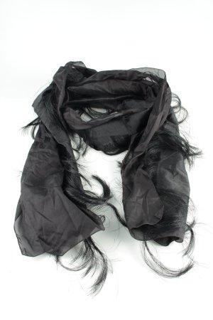 Wolford Fransenschal schwarz-hellgrau extravaganter Stil