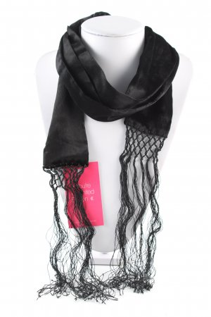 Wolford Fringed Scarf black casual look