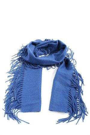 Wolford Szalik z frędzlami niebieski W stylu casual