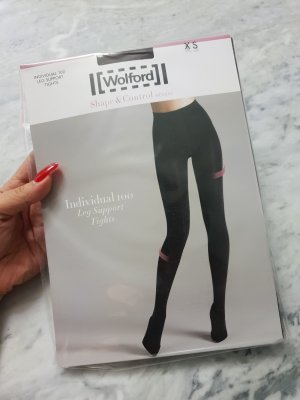 Wolford individual 100 leg support tights Strumpfhose Nylons XS