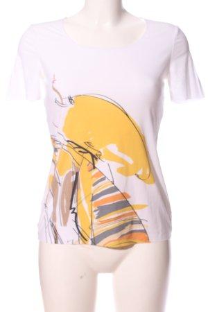 Wolford Bluzka z krótkim rękawem biały-jasny pomarańczowy Abstrakcyjny wzór