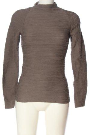 Wolford Blouse à manches longues brun motif rayé style décontracté