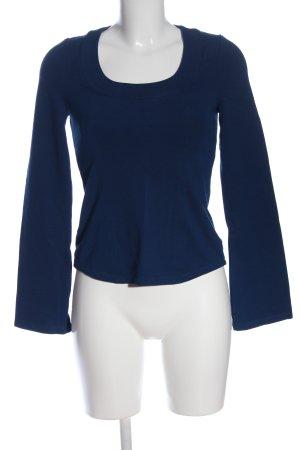 Wolford Blusa de manga larga azul look casual