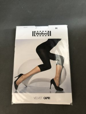 Wolford-Leggings Velvet Capri-Gr. M-weiss-Caprileggings-neu