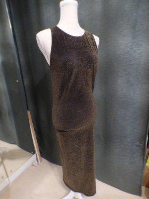 Wolford Metalic Kleid M gold eng mit schönem rücken eng stretchy