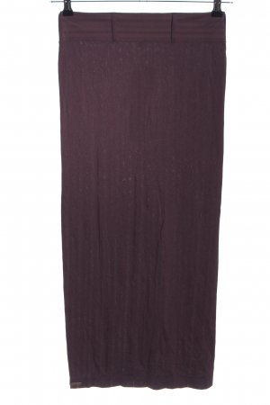 Wolford Midi Skirt brown striped pattern casual look
