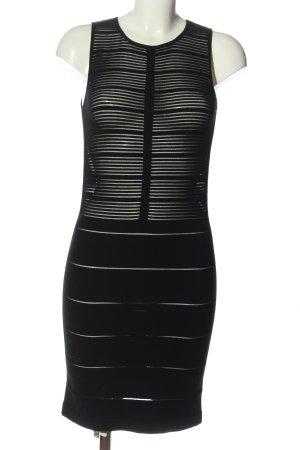 Wolford Minikleid schwarz Streifenmuster Elegant