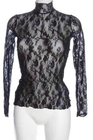 Wolford Camisa de malla negro Patrón de tejido look casual