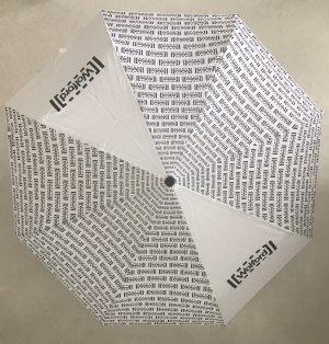Wolford Opvouwbare paraplu wit-zwart