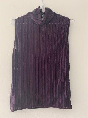Wolford Camisa de malla rojo zarzamora-violeta oscuro