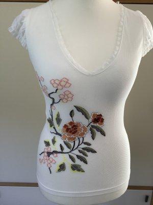 Wolford Shirt mit floraler Stickerei