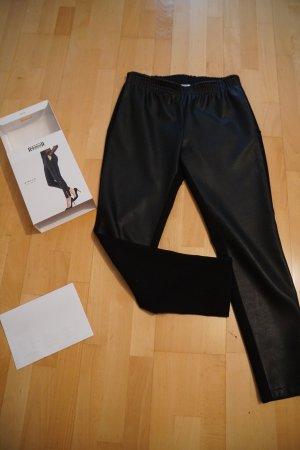 Wolford Stella Trousers Hose veganes Kunstleder black schwarz S Luxus NP 275€ Rechnung