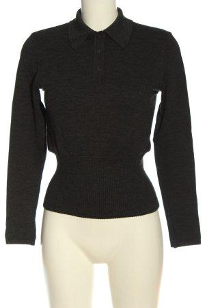Wolford Wełniany sweter czarny Melanżowy W stylu casual