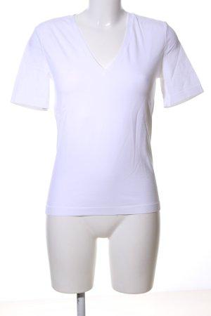 Wolford V-Ausschnitt-Shirt weiß Casual-Look