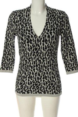 Wolford Camisa con cuello V gris claro-negro look casual
