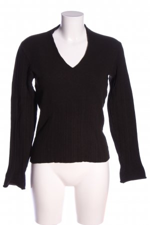 Wolford Wollpullover schwarz Casual-Look