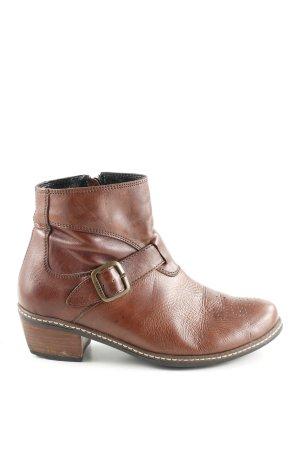 Wolky Botas de tobillo marrón look casual